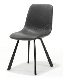 Bari Vintage Black PU Chair