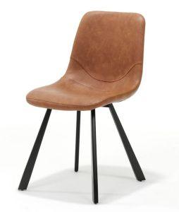 Bari Vintage Cognac PU Chair