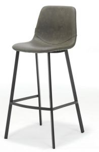 Bari Vintage Taupe PU Counter Stool
