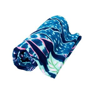 Blue And Green Beach Towel