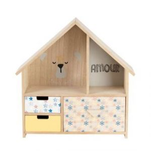 Bear House 3 Drawer Storage Unit