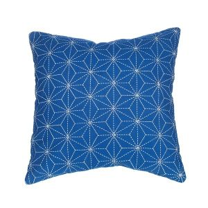 Stitch Print Blue Cushion