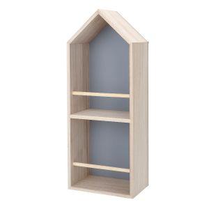 Bookcase Grey Paulownia