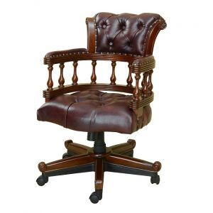 Bordeaux Captains Chair Burgandy