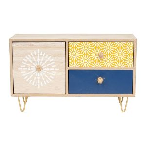 Wooden Set of Three Drawers