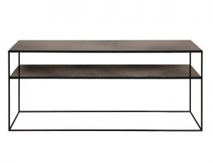 Bronze Copper Sofa Console - 2 Shelves
