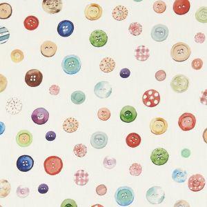 Button Box Cream Oilcloth