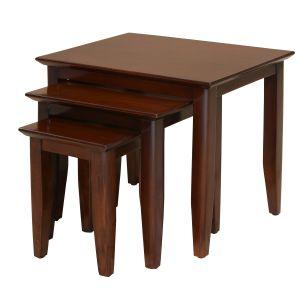 Bordeaux Straight Leg Nest of Tables