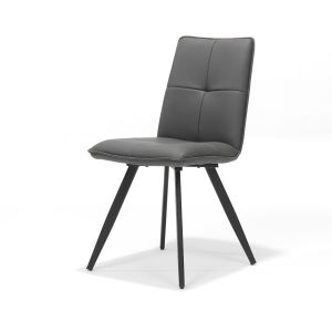 Capo Grey PU Chair Metal Leg