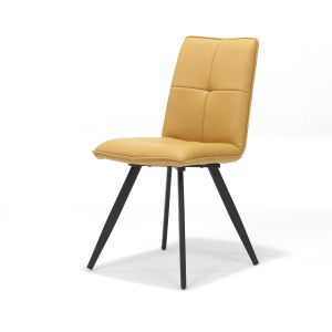 Capo Ochre PU Chair Metal Leg