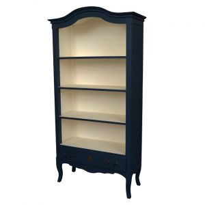 Celine Bookcase with Drawer Stiff Key Blue