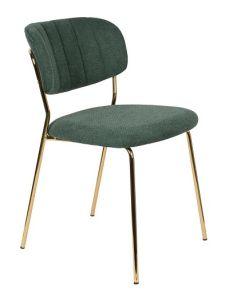 Chair Jolien Gold/Dark Green