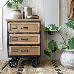 Chest Of Drawers On Wheels With 3 Drawers