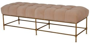Claridge Bench Velvet Beige