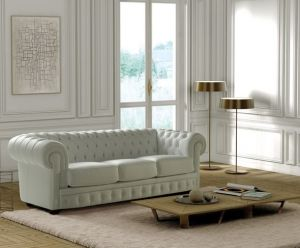 Chesterfield sofa leather 3000