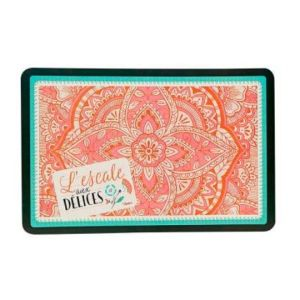 Coral and Green Placemat