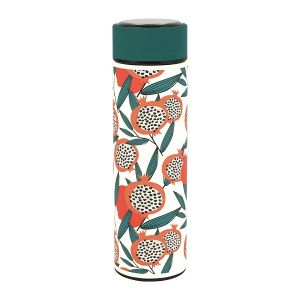 Coral and Green Water Bottle