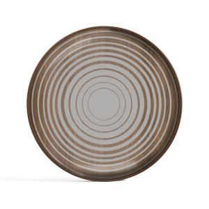 Cream Circles Glass Valet Tray Round Small