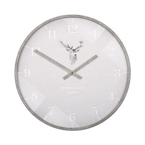 """16"""" Crofter Wall Clock Stag"""