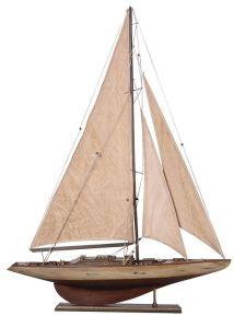 Antique Cream Sails Yacht