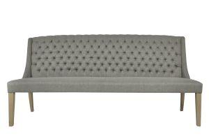Daytona Slate Linen Bench