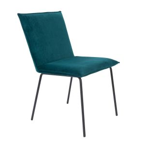 Dining Chair Floke Velvet Petrol