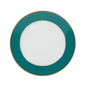 Dinner Plate in Gold And Emerald
