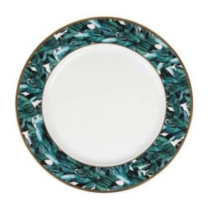 Dinner Plate Jungle in Gold and Emerald