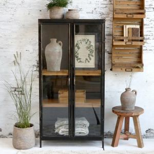 Display Cabinet With Two Wooden Shelves