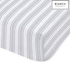 Check & Stripe Grey Fitted Sheet Double