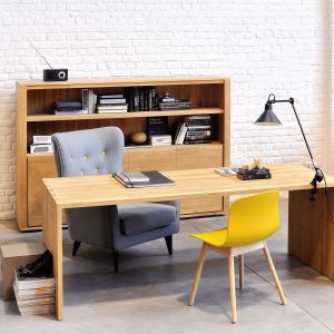 Oak Office U Table
