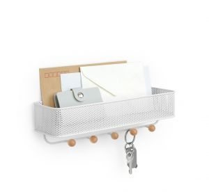 Estique Key Hook & Organizer White