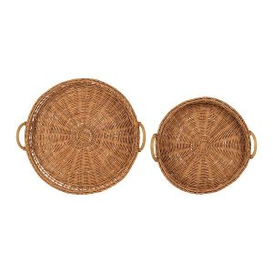 Fantine Set of Two Wicker Trays