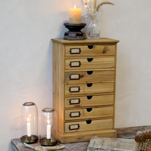 Fir Chest Of Drawers With 7 Drawers