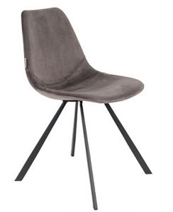 CHAIR FRANKY VELVET - GREY
