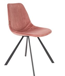 CHAIR FRANKY VELVET - OLD PINK