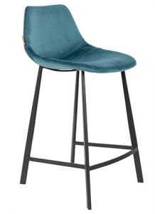 COUNTER STOOL FRANKY VELVET - PETROL