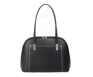 Black and sliver threaded handbag - medium