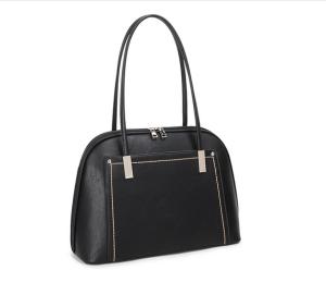 Black and silver threaded handbag - Small