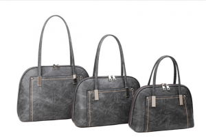 Grey and silver threaded handbag - medium