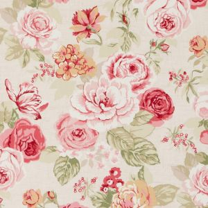 Genevieve Old Rose Oilcloth