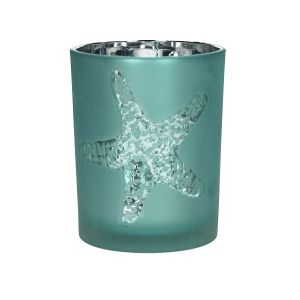 Atlantic Blue Glass Tealight