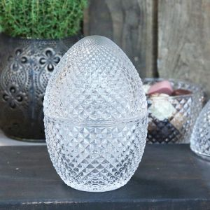 Glass Jar Egg With Lid