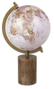 Globe On Wooden Base Small