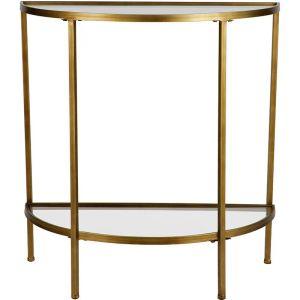 Goddess Antique Brass Side Table
