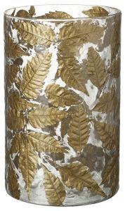 Gold Leaf Candle Holder