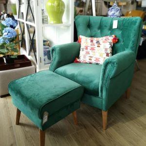 Grace Accent Seaters Velvet Green