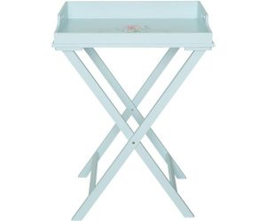 Pale Blue Wood Tray Table