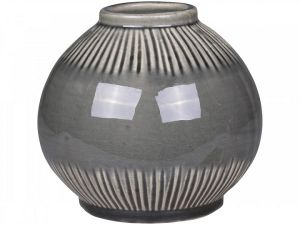 Alasce Two Toned Grey Striped Vase Medium
