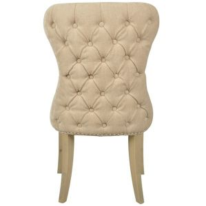 Guia Beige Button Back Dining Chair